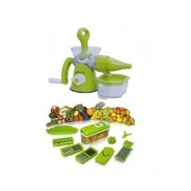 Waseem Electronics Juicer Machine With Nicer Dicer Fruits Cutter Green (0022)