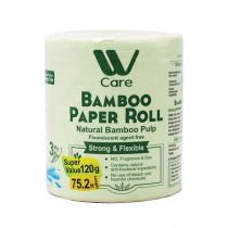 WBM Care Natural Bamboo Paper Roll 3 Ply Pack Of 10