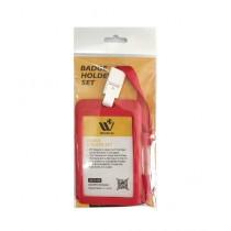 WBM World Badge Holder Set Red