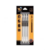 WBM World Gel Pen Black Pack Of 3