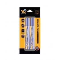 WBM World Marker Pen Blue Pack Of 2