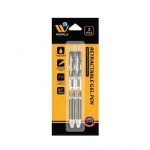 WBM World Retractable Gel Pen Pack Of 2