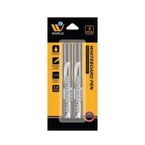 WBM World Whiteboard Pen Black Pack Of 2