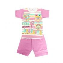 Wokstore Garments 2 Pcs Suit For Kids Multicolor (0084)