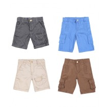 Wokstore Garments Cargo Shorts For Kids Pack Of 4
