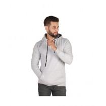 Wokstore Garments Kangru Hoodie For Men White Grey