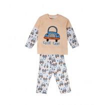 Wokstore Garments Pajama Set For Kids Yellow