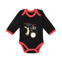 Wokstore Garments Printed Romper For Baby Black/Red