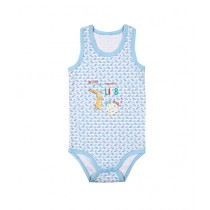 Wokstore Garments Printed Sando For Baby Blue