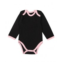 Wokstore Garments Romper For New Born Babie Black/Pink