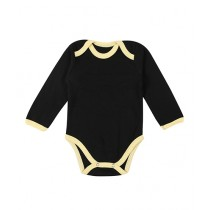 Wokstore Garments Romper For New Born Baby Black/Yellow