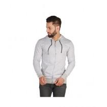 Wokstore Garments Zipper Hoodie Grey White