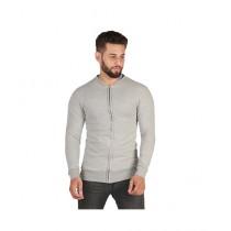 Wokstore Garments Zipper Sweatshirt White Grey