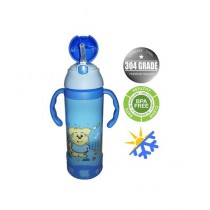 World of Promotion Stainless Steel Cartoon Water Bottle Blue (500ML)