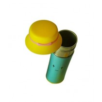 World of Promotion Stainless Steel Thermos With a Hat Yellow