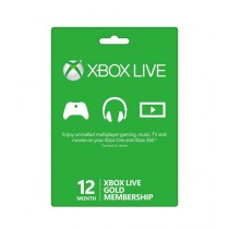 Xbox Live Gold Membership Card - 12 Months - Email Delivery