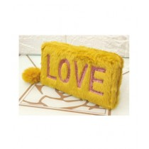 Sale Out Love Fluffy Fur Women Hand Clutch
