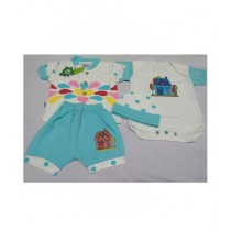Zahra ApparelHalf Sleeves 3 Piece Suit For Baba Boys