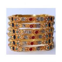 ZaJewellery Bangles For Women Gold (0005)