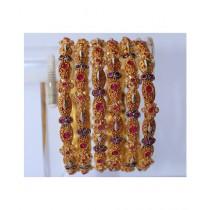 ZaJewellery Bangles For Women Gold (0009)