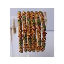 ZaJewellery Bangles For Women Gold (0011)