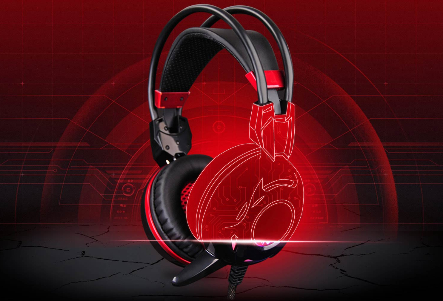 A4Tech Bloody G300 Comfort On-Ear Gaming Headset Black