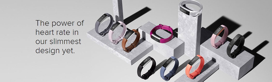Fitbit Alta HR Fitness Wristband Fuchsia