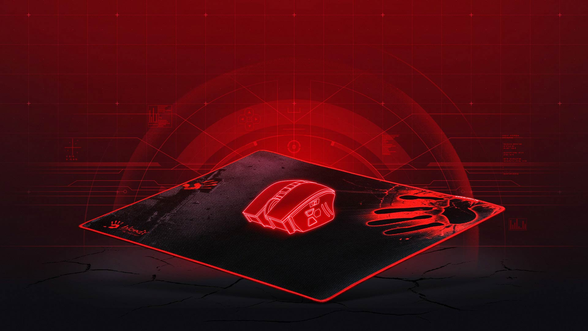 Bloody B-081 Defense Armor Gaming Mouse Pad