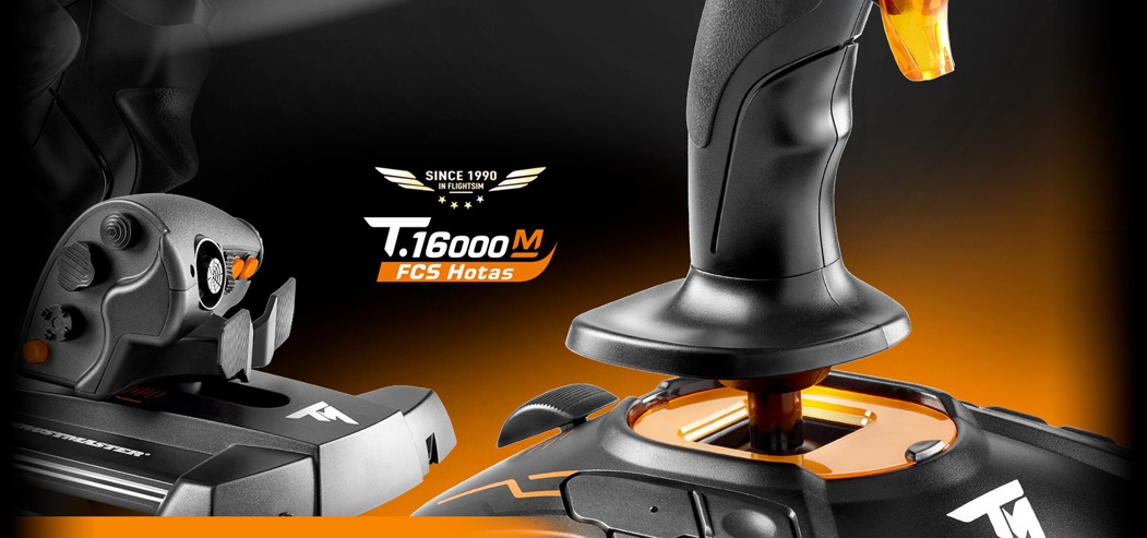 Thrustmaster T 16000M FCS Hotas Flight Stick and Throttle For PC