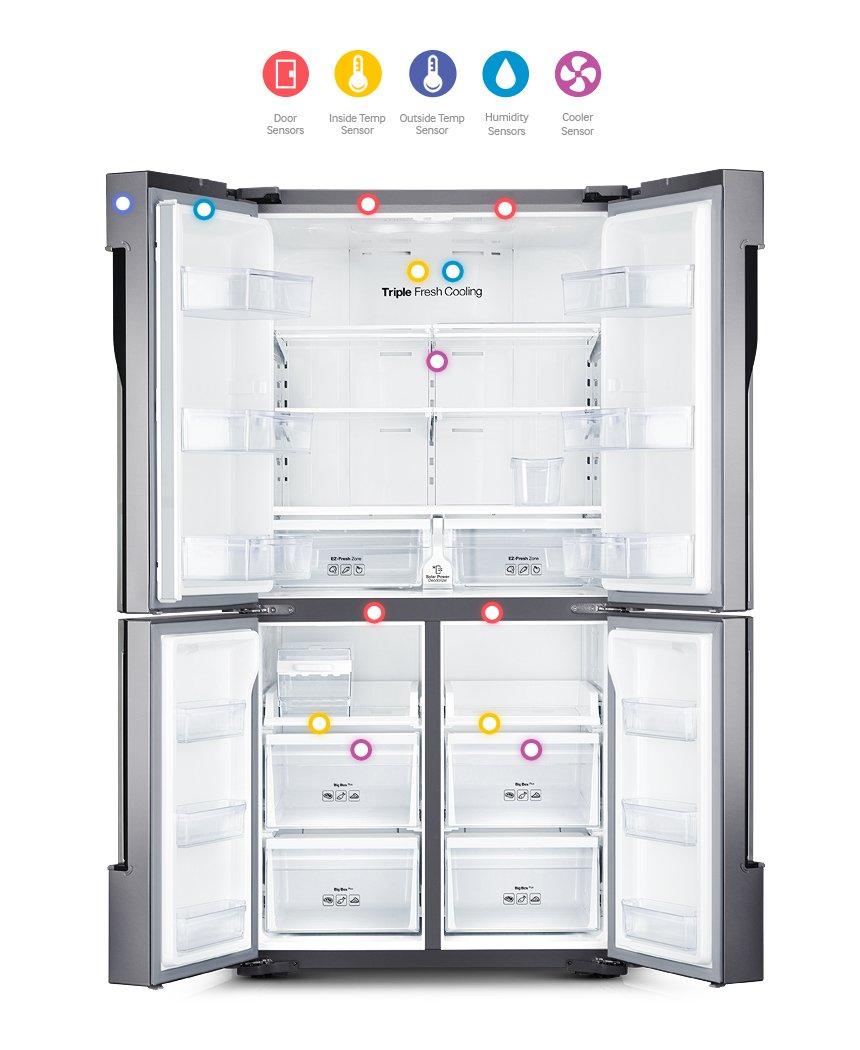 Samsung T9000 French Door Refrigerator 28 cu ft (RF858QALAXW)