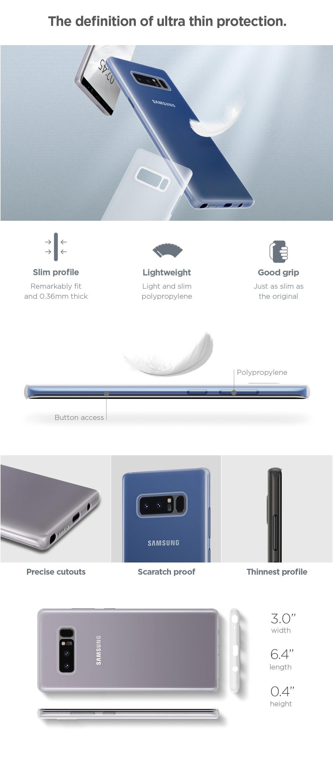 release date 0eb51 55439 Spigen Air Skin Black Case For Galaxy Note 8