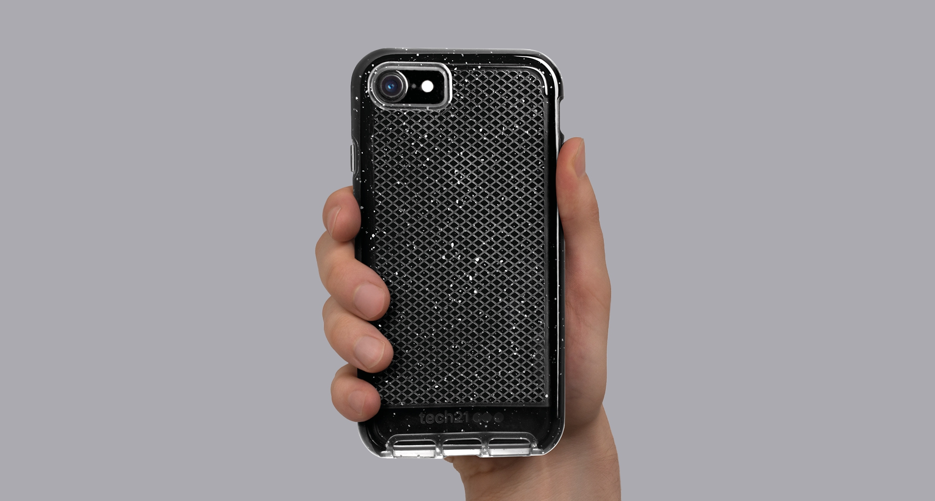 uk availability 4e654 c3b18 Tech21 Evo Check Active Edition Clear/White Case For iPhone 8
