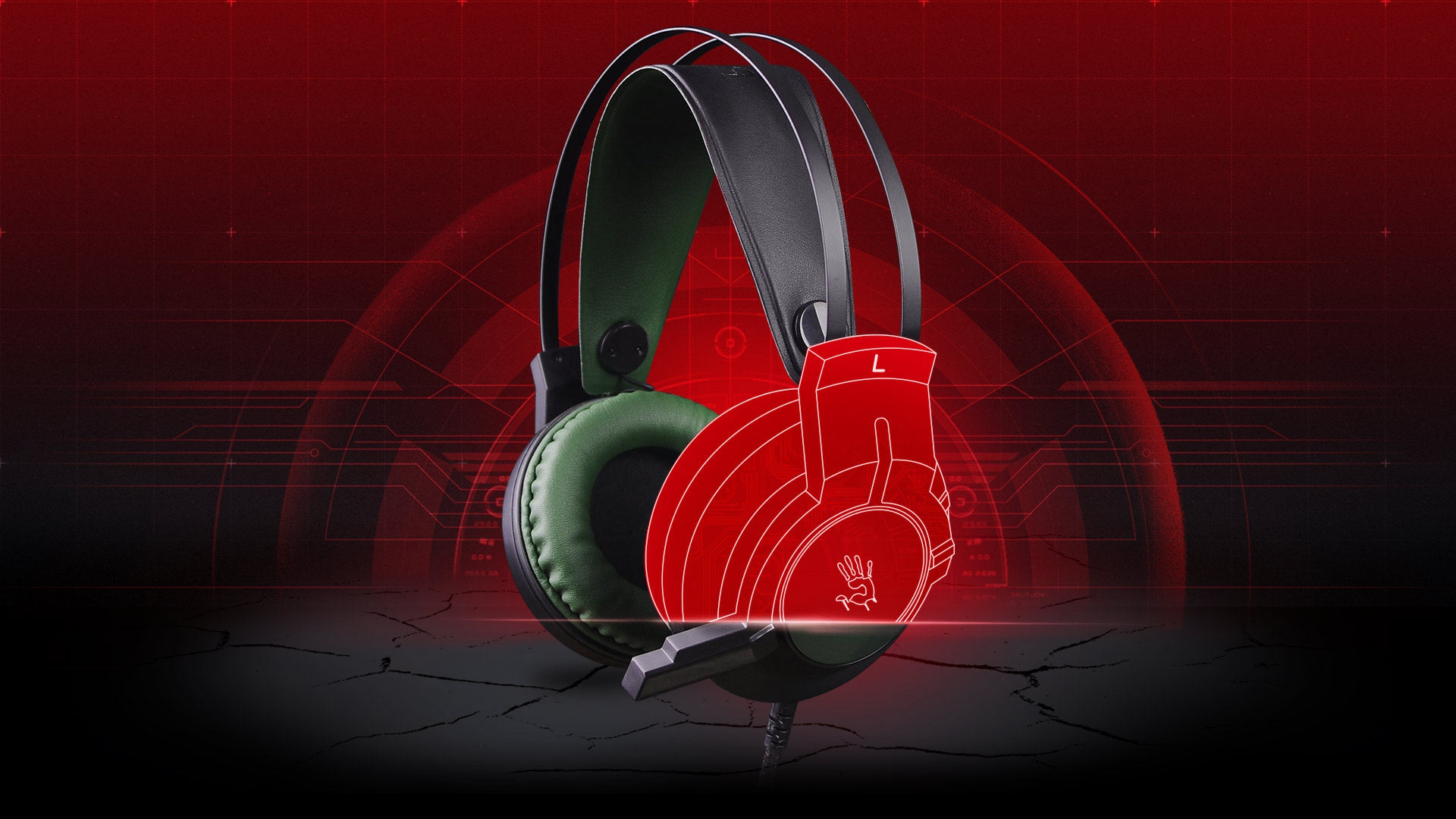 A4Tech Bloody J437 Over-Ear Gaming Headset Army Green