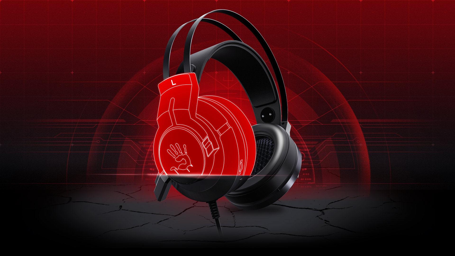 A4Tech Bloody G437 Over-Ear Gaming Headset Gun Black