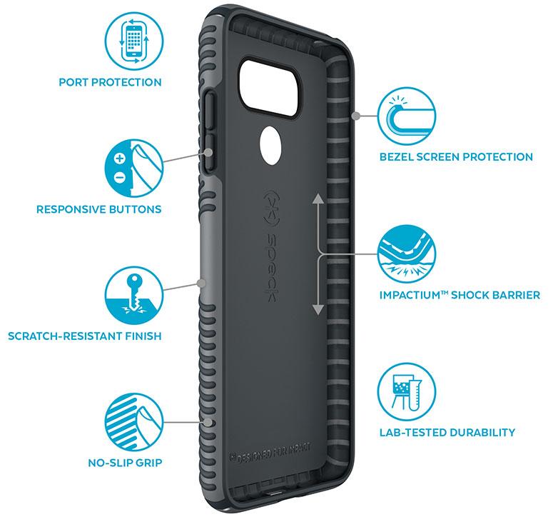 huge inventory 56a9b cae63 Speck Presidio Grip Black Case For LG G6