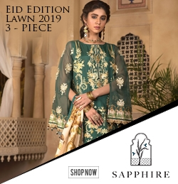 Sapphire Festive Eid Collection 2019 Price in Pakistan